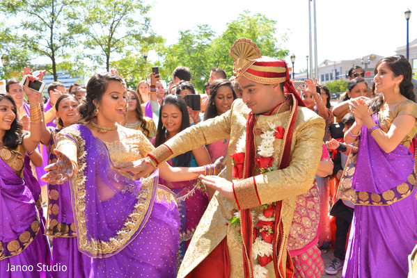 Baraat in Hartford, CT Indian Wedding by Janoo Studio