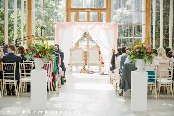 Ceremony Decor in London, UK Indian Wedding by Plenty To Declare Wedding Photography