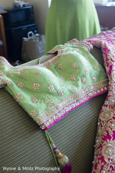 Bridal lengha in Danvers, MA Indian Fusion Wedding by Wynne & Mintz Photography