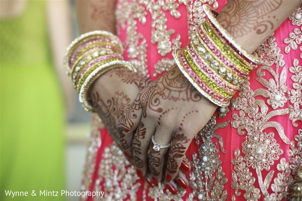 Bridal details in Danvers, MA Indian Fusion Wedding by Wynne & Mintz Photography