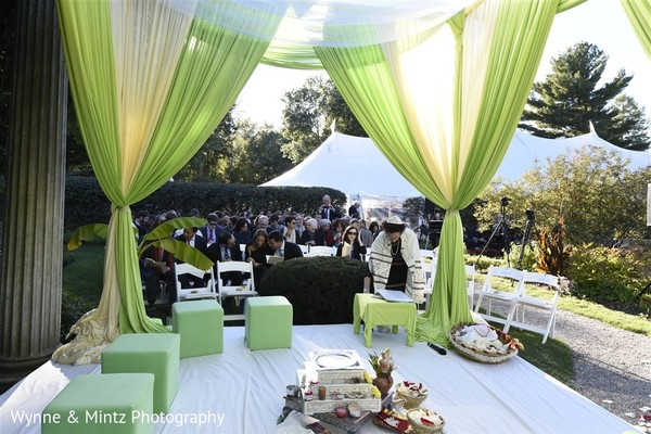 Mandap in Danvers, MA Indian Fusion Wedding by Wynne & Mintz Photography
