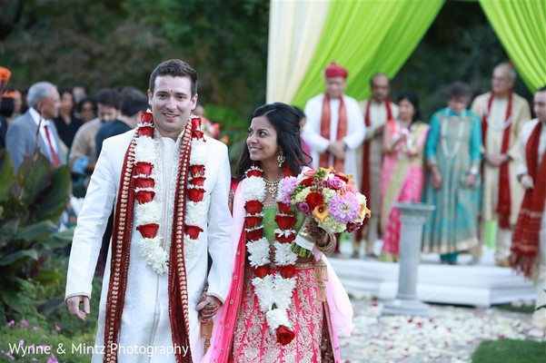 Ceremony in Danvers, MA Indian Fusion Wedding by Wynne & Mintz Photography
