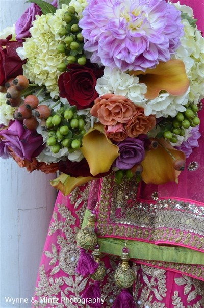 Bridal bouquet in Danvers, MA Indian Fusion Wedding by Wynne & Mintz Photography
