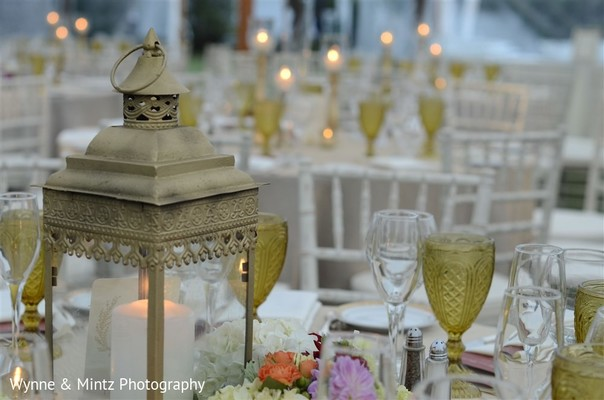 Reception decor in Danvers, MA Indian Fusion Wedding by Wynne & Mintz Photography