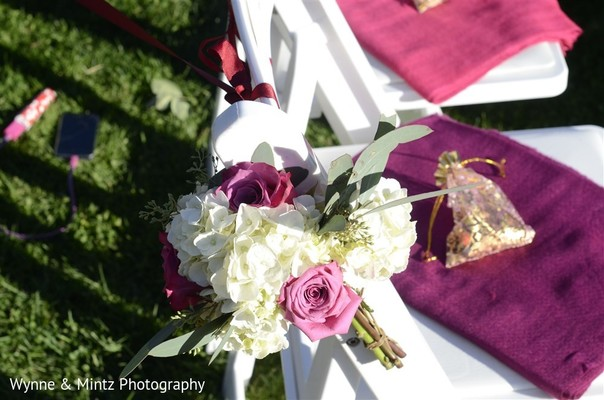 Ceremony decor in Danvers, MA Indian Fusion Wedding by Wynne & Mintz Photography