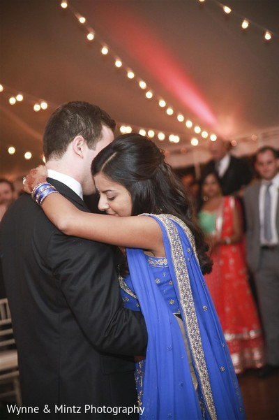 First dance in Danvers, MA Indian Fusion Wedding by Wynne & Mintz Photography