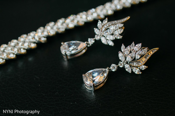 Earrings in Philadelphia, PA Indian Wedding by NYNJ Photography
