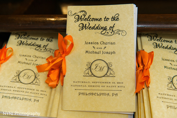Indian wedding programs in Philadelphia, PA Indian Wedding by NYNJ Photography