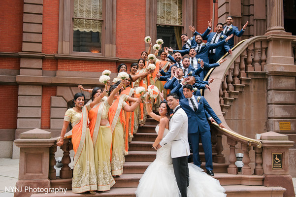 Indian wedding party in Philadelphia, PA Indian Wedding by NYNJ Photography