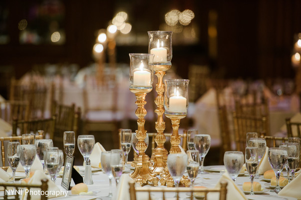 Indian wedding reception floral and decor in Philadelphia, PA Indian Wedding by NYNJ Photography