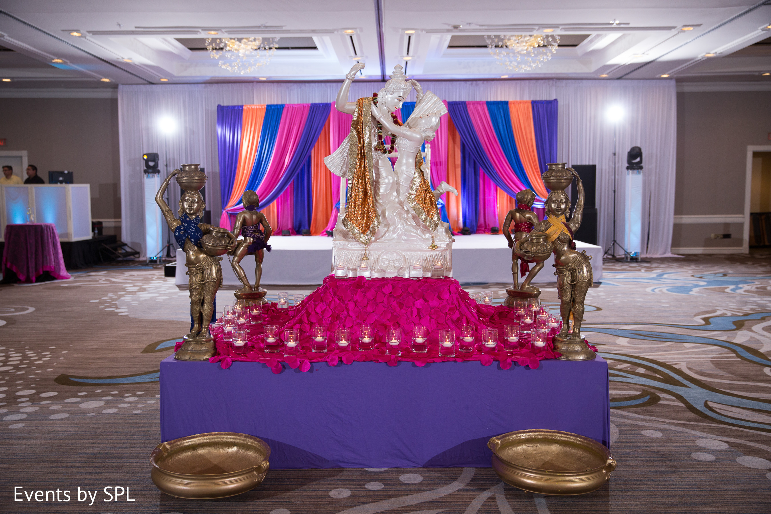 Sangeet Decor In Atlanta Ga Indian Fusion Wedding By Events Spl Maharani Weddings