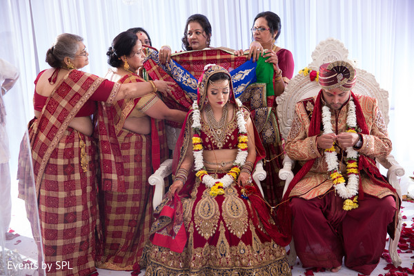 Ceremony in Atlanta, GA Indian Fusion Wedding by Events by SPL