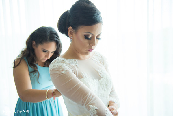 Getting Ready in Atlanta, GA Indian Fusion Wedding by Events by SPL