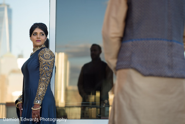 Pre-Wedding Portrait in Jersey City, NJ Indian Wedding by Damion Edwards Photography