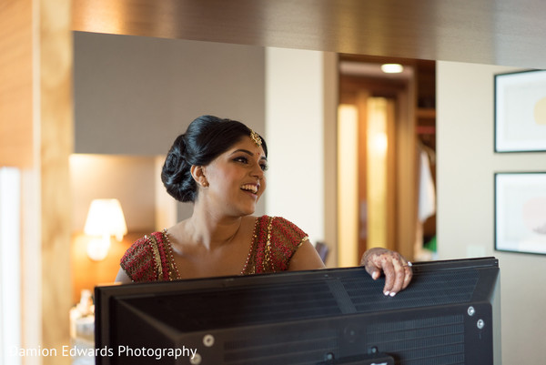 Getting Ready in Jersey City, NJ Indian Wedding by Damion Edwards Photography
