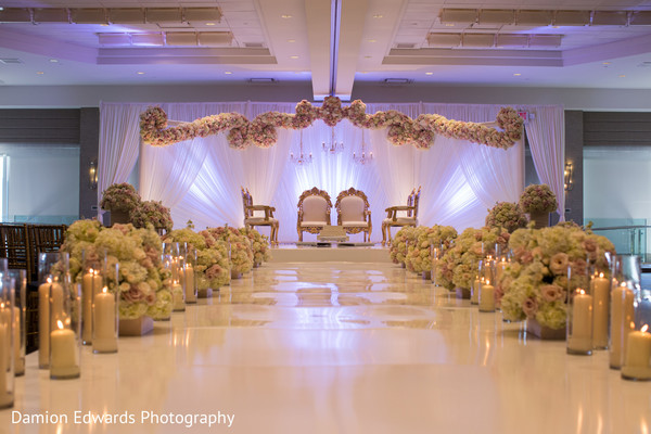 Ceremony Decor in Jersey City NJ Indian Wedding by Damion Edwards