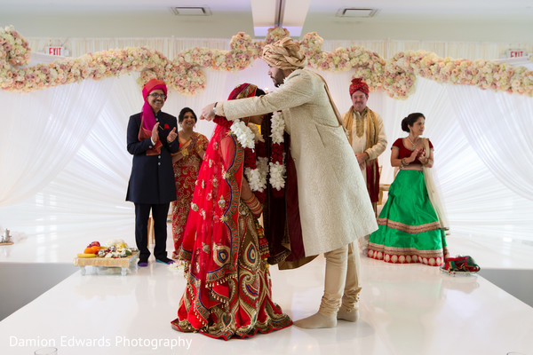 Ceremony in Jersey City, NJ Indian Wedding by Damion Edwards Photography
