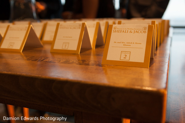Escort Cards in Jersey City, NJ Indian Wedding by Damion Edwards Photography