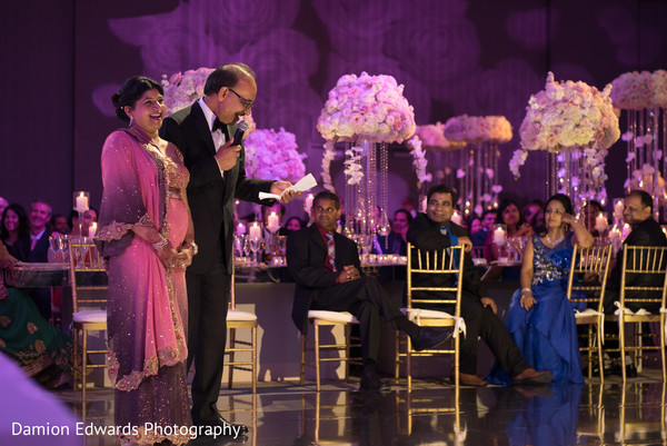 Reception in Jersey City, NJ Indian Wedding by Damion Edwards Photography