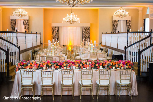 Reception floral and decor in St. Petersburg, FL Indian Fusion Wedding by Kimberly Photography