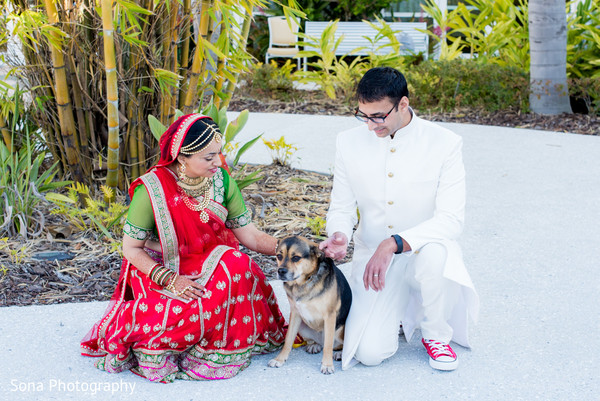 First look portrait in Orlando, FL Indian Wedding by Sona Photography
