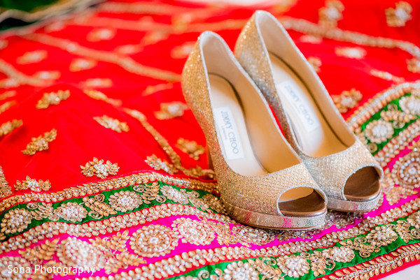 Shoes for indian bride in Orlando, FL Indian Wedding by Sona Photography