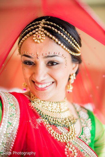 Indian bridal portrait in Orlando, FL Indian Wedding by Sona Photography