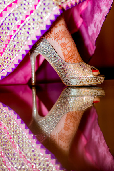 Reception shoes in Orlando, FL Indian Wedding by Sona Photography