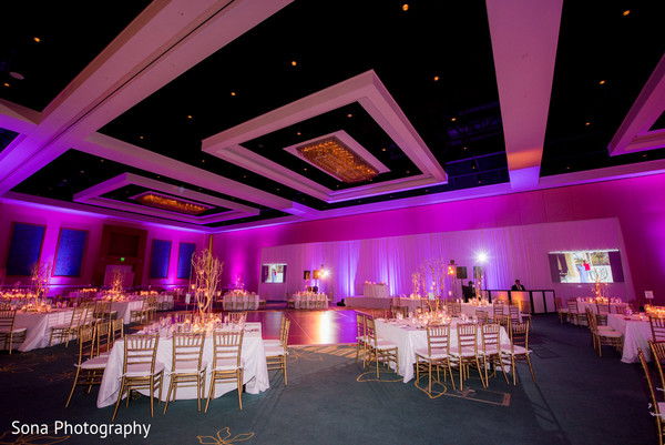 Reception floral and decor in Orlando, FL Indian Wedding by Sona Photography