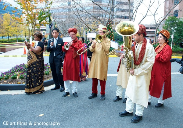 Baraat in Tysons Corner, VA Indian Wedding by CB Art Photography