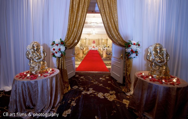 Ceremony Decor in Tysons Corner, VA Indian Wedding by CB Art Photography