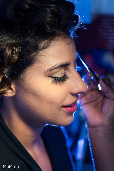 Hair & makeup in Playa del Carmen, Mexico Destination South Asian Wedding by MnMfoto Wedding Photography