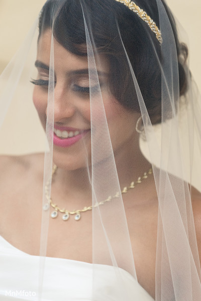 Indian bridal portrait in Playa del Carmen, Mexico Destination South Asian Wedding by MnMfoto Wedding Photography