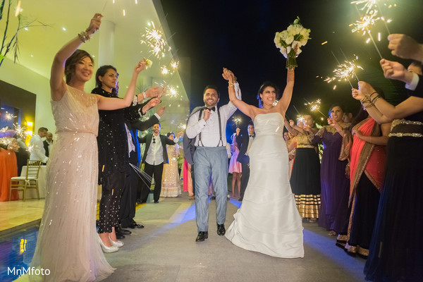 Reception in Playa del Carmen, Mexico Destination South Asian Wedding by MnMfoto Wedding Photography