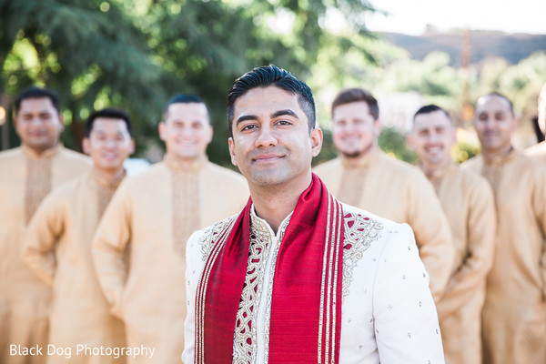 Groomsmen in Temecula, CA Indian Wedding by Black Dog Photography