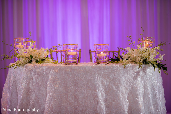 Reception decor in Orlando, FL Indian Wedding by Sona Photography