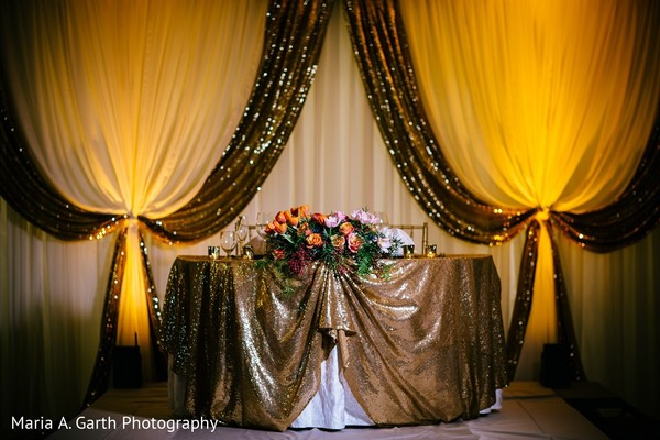 Floral & Decor in Styled Indian Fusion Wedding Inspiration Shoot by Maria A. Garth Photography