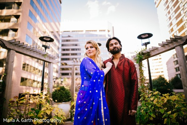 Portrait in Styled Indian Fusion Wedding Inspiration Shoot by Maria A. Garth Photography