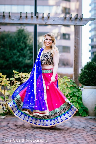 Bridal Fashion in Styled Indian Fusion Wedding Inspiration Shoot by Maria A. Garth Photography