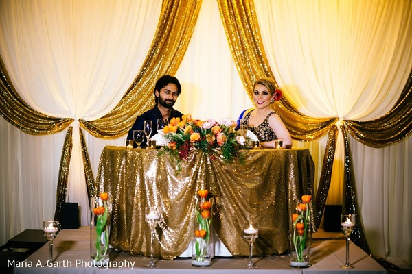 Reception in Styled Indian Fusion Wedding Inspiration Shoot by Maria A. Garth Photography