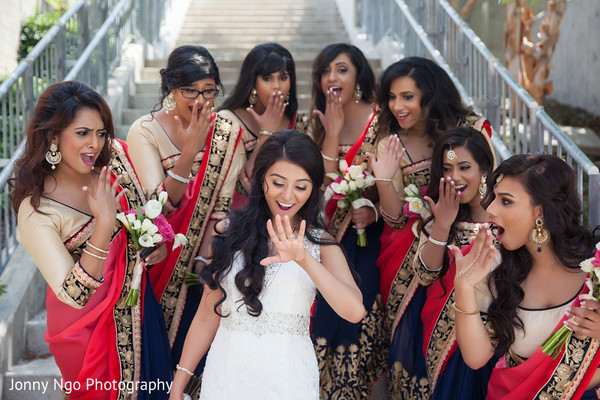 Bridal Party in Dallas, TX Indian Wedding by Jonny Ngo Photography