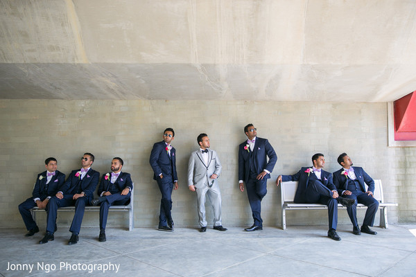 Groomsmen in Dallas, TX Indian Wedding by Jonny Ngo Photography