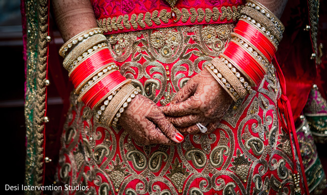 Bridal churis in Selma, CA Sikh Wedding by Desi Intervention