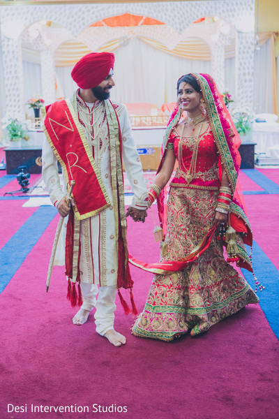 Indian wedding portrait in Selma, CA Sikh Wedding by Desi Intervention