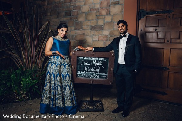 Reception Portrait in Pleasanton, CA Indian Wedding by Wedding Documentary Photo + Cinema