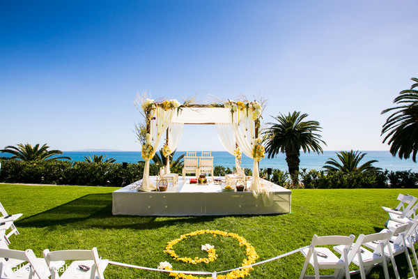 Mandap in Pacific Palisades, CA Indian Wedding by Callaway Gable