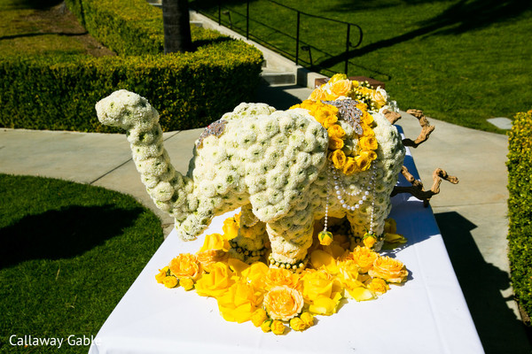 Ceremony Decor in Pacific Palisades, CA Indian Wedding by Callaway Gable