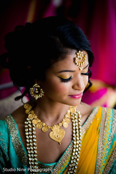 Indian bridal hair and makeup in Newport, RI Indian Wedding by Studio Nine Photography + Cinema