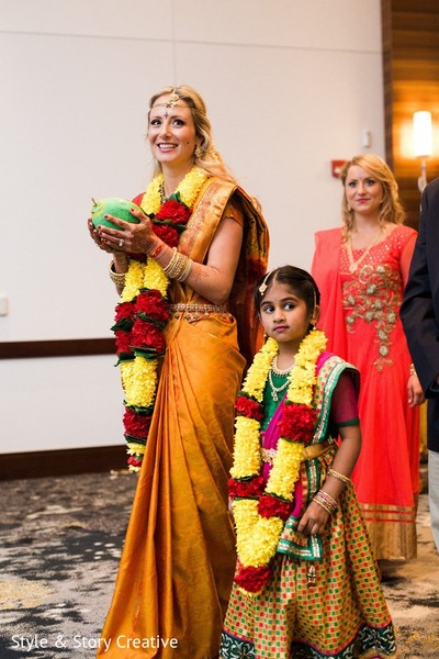 Ceremony in Columbus, OH Indian Fusion Wedding by Style & Story Creative