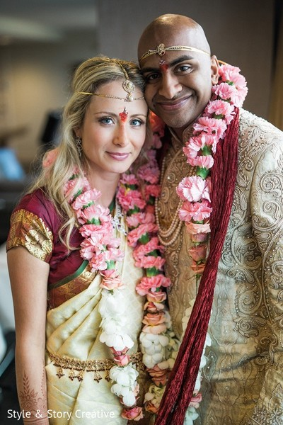 Fusion Wedding Indian South Portrait